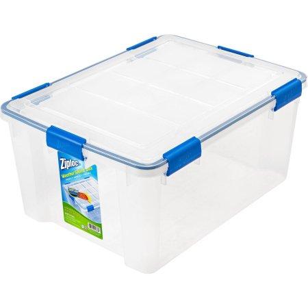 Ziploc 60 Qt15 Gal Weathershield Storage Box Clear Walmartcom