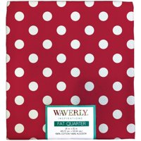 "Waverly Inspiration Fat Quarter 100% Cotton, Big Dot POPPY Print Fabric, Quilting Fabric, Craft fabric, 18"" by 21"", 140 GSM"
