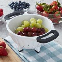 KitchenAid Dishwasher Safe 1.5 Quart Classic Colander, White and Black