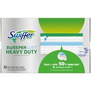Swiffer Sweeper Wet, Heavy Duty Mopping Cloths with Febreze Freshness, Lavender Vanilla & Comfort, 32 Count