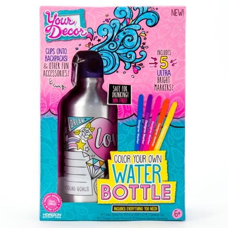 Your Decor Color Your Own Water Bottle Kit
