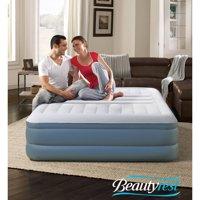 Simmons Beautyrest Silver Lumbar Lux with Internal Pump Raised Air Mattress, Queen 18 Inch