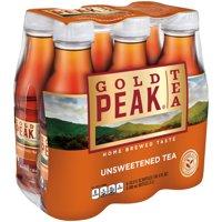 (12 Bottles) Gold Peak Unsweet Tea, 16.9 Fl Oz