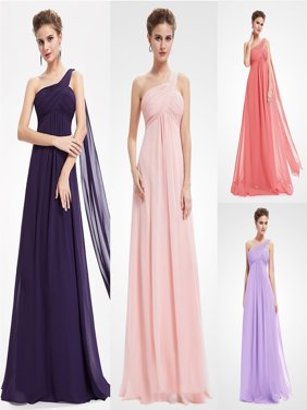 Ever-Pretty Women's Elegant Floor-Length A-Line One Shoulder Formal Evening Prom Party Bridesmaid Maxi Dresses for Women 09816