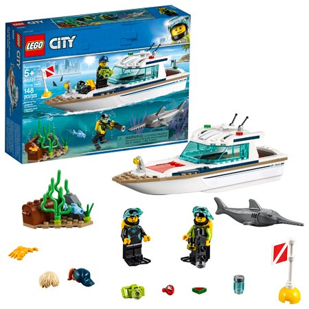 LEGO City Great Vehicles Diving Yacht 60221 Building Set