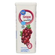 (12 Pack) Great Value Drink Mix, Grape, Sugar-Free, 1.9 oz, 6 Count