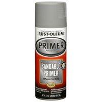 Rust-Oleum 249415 Automotive Spray Primer, Sandable, Grey, 12-oz.