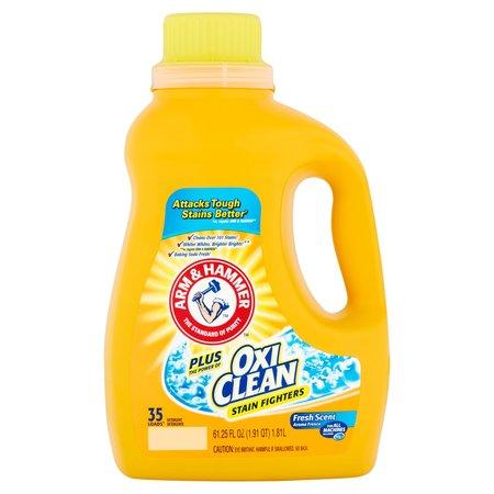 Arm & Hammer Liquid Laundry Detergent Plus Oxi Clean, 35 Loads, 61.25