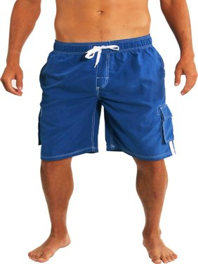 Norty Mens Big Extended Size Swim Trunks - Mens Plus Size Swimsuit sizes 2X, 3X, 4X, 5X - King Size Bathing Suits, Board Shorts, Swim Suits and Swimming Trunks for the Big And Tall Man