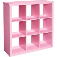 Better Homes & Gardens 9 Cube Storage Organizer, Solid Black