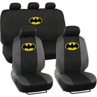 Batman Original Seat Covers for Car and SUV, Auto Interior Gift Full Set, Warner Brothers