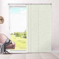 """Chicology Adjustable Sliding Panels, Cut to Length Vertical Blinds, Eclipse Alpaca (Room Darkening) - Up to 80""""W X 96""""H"""