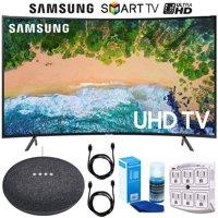 """Samsung UN65NU7300 65"""" (UN65NU7300FXZA) NU7300 Curved Smart 4K UHD TV (2018) Google Home Mini Bundle"""