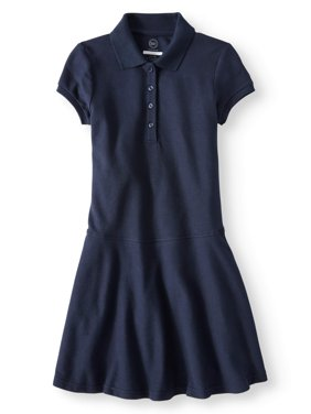 Girls School Uniform Polo Skater Dress
