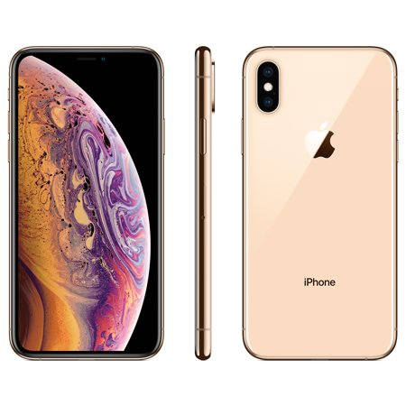 Straight Talk Apple iPhone XS w/64GB, Gold (Silver Cell Phone)