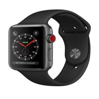 Refurbished Apple Watch - Series 3 - 42mm - Space Gray Aluminum Case - Black Sport Band