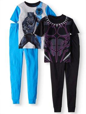 Boys' Black Panther 4-Piece Pajama Sleep Set