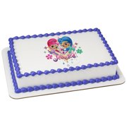 Shimmer And Shine 1 4 Sheet Be Jeweled Birthday Cake Cupcake Edible Image