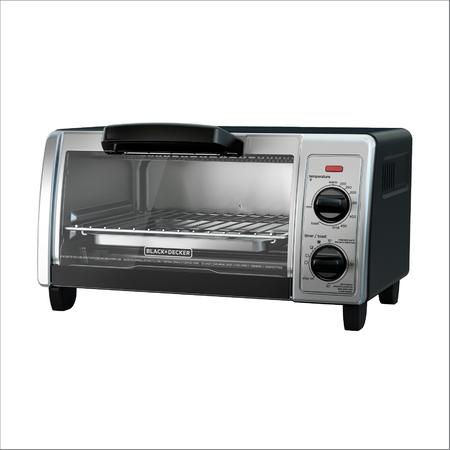 BLACK+DECKER 4-Slice Toaster Oven, Stainless Steel, TO1705SB