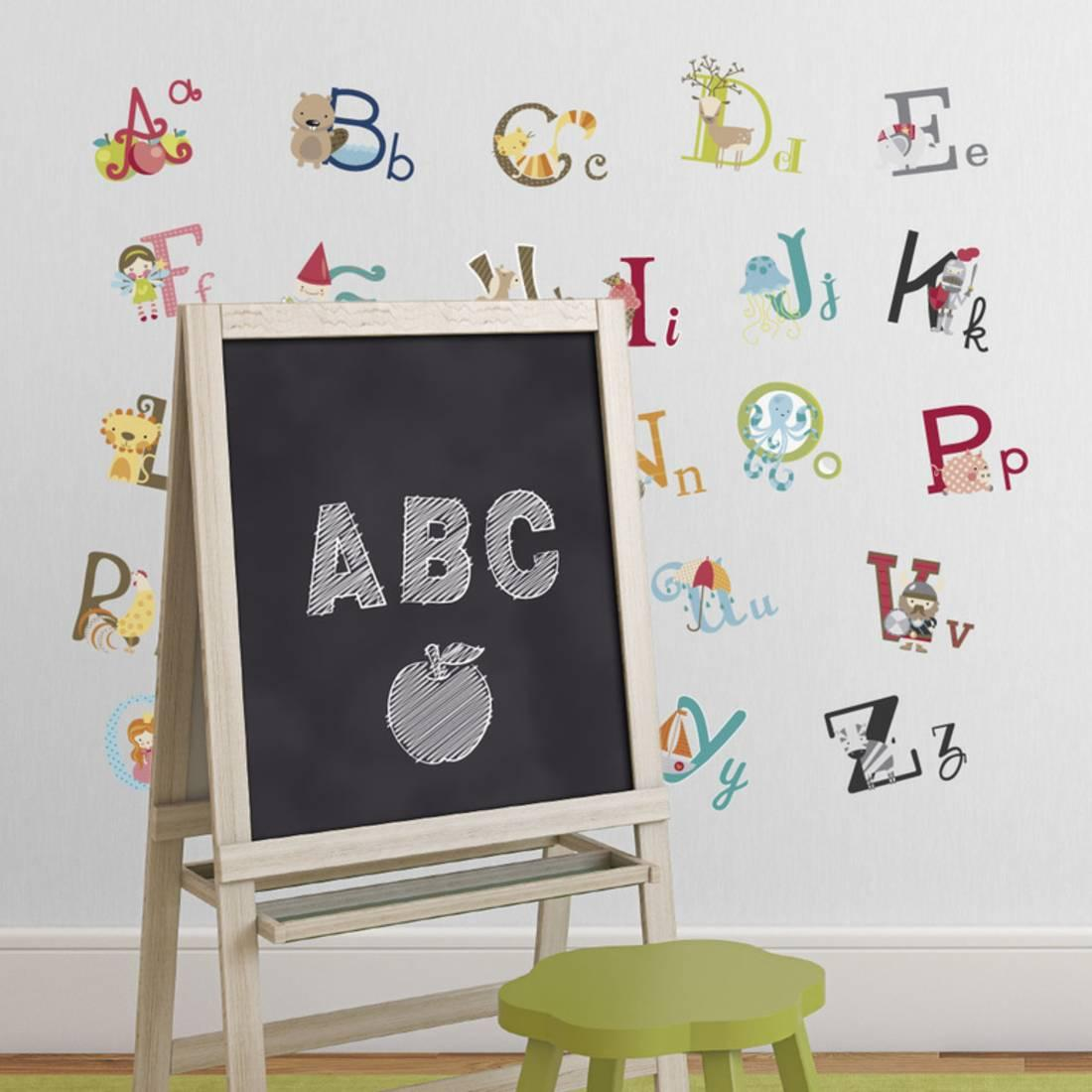 High Quality Big Graphic Alphabet Letters Kids Room/nursery Wall Decal Stickers