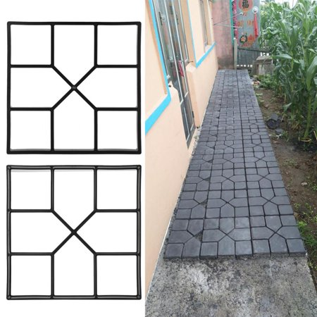 Paving Pavement Concrete Mould Stepping Stone Mold Garden Lawn Path Paver Patio Walkway Pathmate Pavement Mold Reusable ()