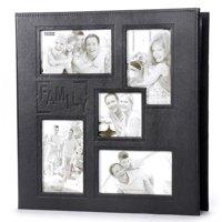 Family Photo Album: Black, 240 Pictures