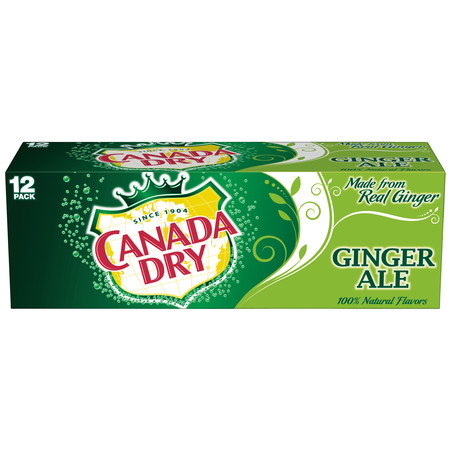 (2 Pack) Canada Dry Ginger Ale, 12 Fl Oz Cans, 12 Ct (German Ale)