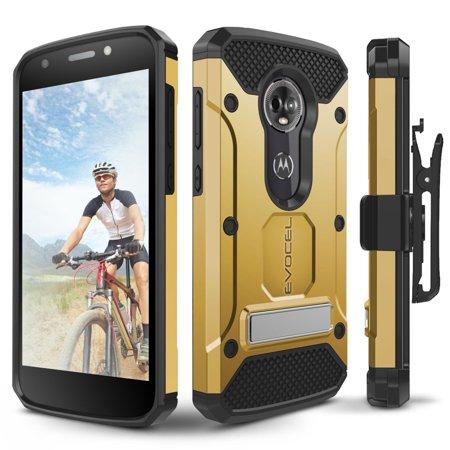 Motorola Moto E5 Plus Case, Evocel [Explorer Series Pro] with Glass Screen Protector & Metal Kickstand for Motorola Moto E5 Plus,