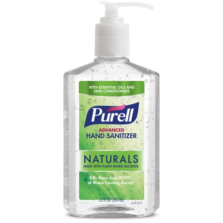 (Pack of 2) PURELL Advanced Hand Sanitizer Naturals with Plant Based Alcohol, Citrus Scent, 12 Oz Pump