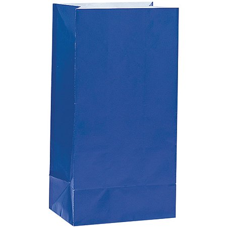 Paper Luminary & Party Bags, Royal Blue, 12ct - Avengers Party Bags
