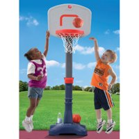 """Step2 Shootin' Hoops Jr. Basketball Set with Center pole fixture adjusts rim height from 30"""" to 48"""""""