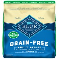 Blue Buffalo Life Protection Formula Grain Free Natural Adult Dry Dog Food, Chicken Recipe, 20-lb