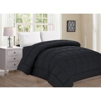 Elegant Comfort Ultra Plush Down Alternative Double-Filled Comforter %100 HypoAllergenic, King/Cal King , Black