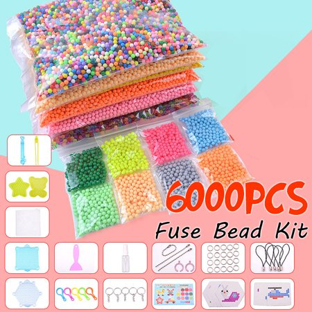 1000/6000 Mix/Crystal M agic Bead Fuse Beads Tool Set Multicolors Water Sticky Beads DIY Refill Water Spray Art Crafts Toys for Kids Adult Childrens Gifts - Fuse Beads Ideas