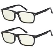 cf735158ad1 ALTEC VISION SuperPak 2 Pack Computer and Gaming Glasses for Monitor Screen  Eye Strain Relief Anti