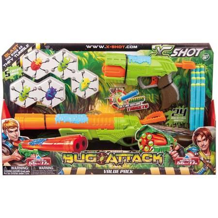 Rapid Fire Shotgun (X-Shot Bug Attack Rapid Fire and Eliminator Foam Dart Blaster Value Pack (5 Bugs 24 Darts) by)