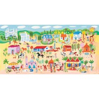 Oopsy Daisy - World Party Canvas Wall Art 36x18, Christopher Corr