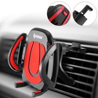 """IPOW Universal Air Vent Car Mount Holder Cell Phone Car Mount with One Button Release Clamp Universal for 3.2""""-6.5"""" Smartphone, iPhone XR XS X 8 7 6 6s Plus, Samsung Galaxy S9 S8 S7"""