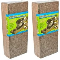 Ware Corrugated Reversible Replacement Cat Scratcher, Regular, 2 Ct