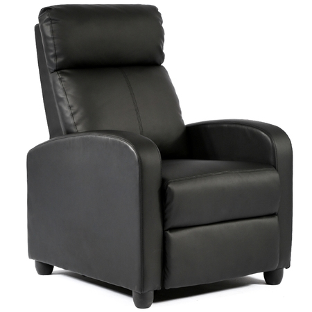 Recliner Chair Single Reclining Sofa Leather Chair Home Theater Seating Living Room Lounge Chaise with Padded Seat Backrest