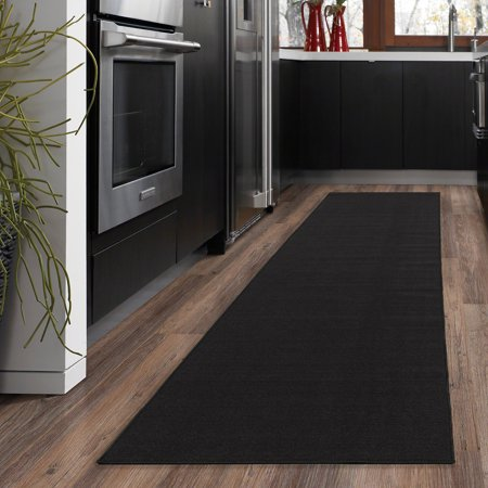 Modern Kitchen Collection (Ottomanson Ottohome Collection Solid Hallway Wedding Aisle & Kitchen Non Slip Rubber Backing Area or Runner Rugs )