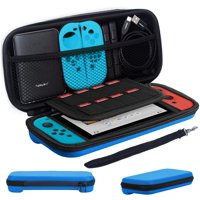 TSV Travel Carrying Case Hard Shell Case w/ 8 Card Slots Full Protection For Nintendo Switch Console