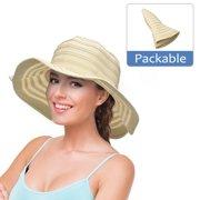 df7f38ae56be2 Womens Sun Hat w  Floppy Brim Straw Edge Foldable Gardening Hiking Beach Cap