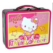 aa9e9ef2a Hello Kitty Carry All Square Tin Stationery Small Lunch Box - So Sweet