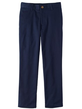 Boys Slim School Uniform Stretch Super Soft Flat Front Pants