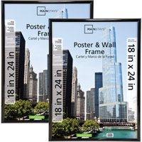 Mainstays 18x24 Trendsetter Poster & Picture Frame, Black, Set of 2