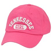 d130fd0bb03d0 Tennessee Girl State USA America City Hat Cap Pink Relaxed Adjustable TN  Womens