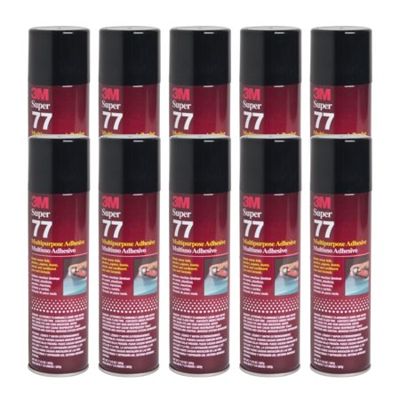 QTY 10 3M 7.3 oz SUPER 77 SPRAY Glue Multipurpose Adhesive for Particle