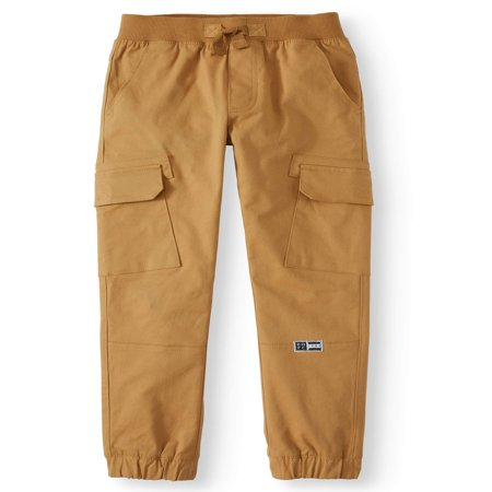 New Mens Big Boys Pants - Pull On Stetch Twill Skinny Cargo Jogger Pants (Big Boys)