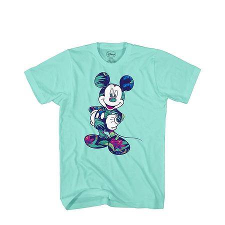 Disney Mickey Mouse Tropical Mint Green Disneyland World Tee Funny Humor Adult Mens Graphic T-Shirt Apparel - Tropical Shirts